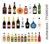 big set of different bottles of ... | Shutterstock .eps vector #771000145