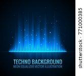 vector sound waves. audio... | Shutterstock .eps vector #771000385
