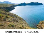 summer rocky coastline   ... | Shutterstock . vector #77100526