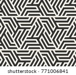 vector seamless lines pattern.... | Shutterstock .eps vector #771006841