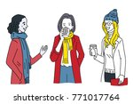 various character of female... | Shutterstock .eps vector #771017764