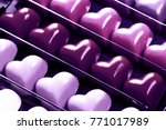 black opened box with chocolate ... | Shutterstock . vector #771017989