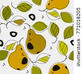 cute seamless patterns with... | Shutterstock .eps vector #771018205