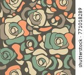 stylish seamless pattern with... | Shutterstock .eps vector #771018289