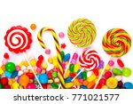mixed colorful sweets | Shutterstock . vector #771021577