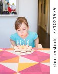 portrait of three years old... | Shutterstock . vector #771021979