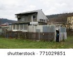 ugly shack and shanty made of... | Shutterstock . vector #771029851
