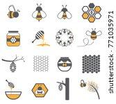 honey bee icon  | Shutterstock .eps vector #771035971