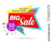 sale banner original red design | Shutterstock .eps vector #771037171