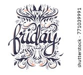 calligraphy writing for friday. ...   Shutterstock .eps vector #771039991
