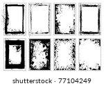 grunge black ink splat frame... | Shutterstock . vector #77104249
