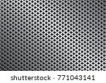 perforated iron background... | Shutterstock .eps vector #771043141