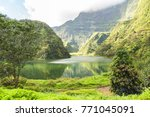 tahiti in french polynesia ... | Shutterstock . vector #771045091