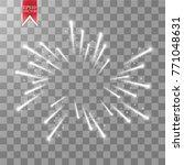 firework lights effect with... | Shutterstock .eps vector #771048631