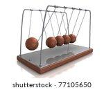 balancing balls newton's cradle ... | Shutterstock . vector #77105650