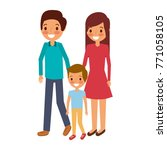 family father mother and son... | Shutterstock .eps vector #771058105