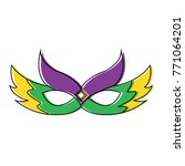 ornate mardi gras carnival mask ... | Shutterstock .eps vector #771064201