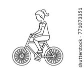 person riding bike icon image  | Shutterstock .eps vector #771073351