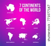 7 continents of the world... | Shutterstock .eps vector #771077167