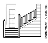 illustration of a staircase... | Shutterstock .eps vector #771080401