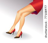 eps10 sexy woman legs with...   Shutterstock .eps vector #77108977