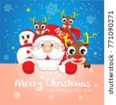 merry christmas and happy new... | Shutterstock .eps vector #771090271