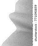 white black color. linear... | Shutterstock .eps vector #771090859