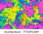 macro photography of liquid ... | Shutterstock . vector #771091309