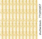 seamless yellow knitting pattern   Shutterstock . vector #771092857
