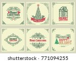 ornate square winter holidays... | Shutterstock .eps vector #771094255