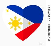 Flag Of Philippines In The...