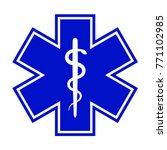 the star of life  with the... | Shutterstock .eps vector #771102985