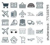 set of 25 commercial outline... | Shutterstock .eps vector #771103795