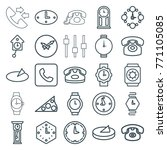 set of 25 dial outline icons... | Shutterstock .eps vector #771105085