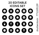 smile icons. set of 20 editable ... | Shutterstock .eps vector #771105139