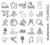 set of 25 activity outline... | Shutterstock .eps vector #771105211