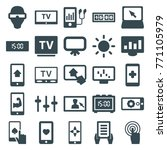 set of 25 display filled icons