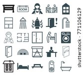 set of 25 room filled and... | Shutterstock .eps vector #771106129