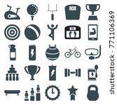 set of 25 sport filled icons... | Shutterstock .eps vector #771106369