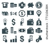 set of 25 dollar filled icons...   Shutterstock .eps vector #771106384