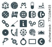 set of 25 round filled icons... | Shutterstock .eps vector #771106435