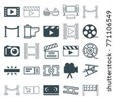 set of 25 cinema filled and... | Shutterstock .eps vector #771106549