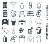 set of 25 container filled and... | Shutterstock .eps vector #771106861