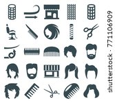set of 25 haircut filled icons... | Shutterstock .eps vector #771106909