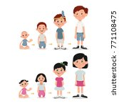 set of age measurement of... | Shutterstock .eps vector #771108475