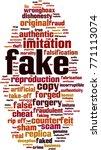fake word cloud concept. vector ...   Shutterstock .eps vector #771113074