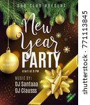 new year party poster. luxury... | Shutterstock .eps vector #771113845