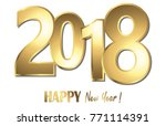 happy new year 2018 greetings... | Shutterstock .eps vector #771114391