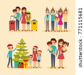 set of family differents... | Shutterstock .eps vector #771115681