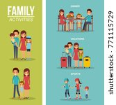 set of family differents... | Shutterstock .eps vector #771115729